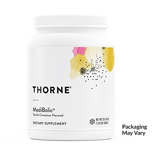 Thorne Research - MediBolic with Madeglucyl - Gluten-Free and Dairy-Free Supplement Powder – Increases Satiety and Enhances Fat Burning - Vanilla Cinnamon Flavor - 20.74 oz
