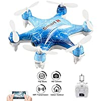 Dayan Anser Wifi FPV Drone with Camera Live Video RC Quadcopter, CX-37-TX Height Hold Hexacopter Remote Control/Mobile Phone Control for iOS/Android APP Mini Drone (Blue)