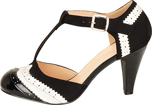 d34831a05e Cambridge Select Women's T-Strap Wingtip Style Cut Out Mid Heel Dress Pump:  Amazon.ca: Shoes & Handbags