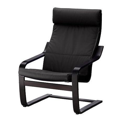 2 x IKEA mecedora Poäng sillón silla - negro y marrón ...