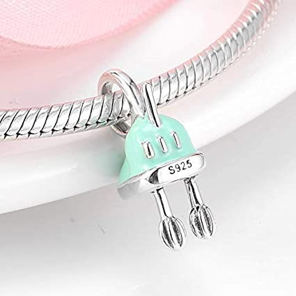 ZDJDMZ Cuentas Huecas Beaded925 Utensilios De Cocina De Plata Esterlina Batidor Bead Beater Beads Fit Original Charm Bracelet Jewelry Making