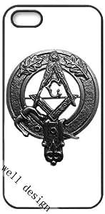 Masonic Freemasonry art design HD image case for iphone 5/5S black + Card Sticker