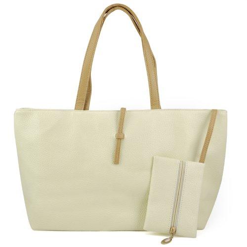 Gleader Coreano stile borsetta Hobo borsa di cuoio Borsa a tracolla PU da donna - Beige