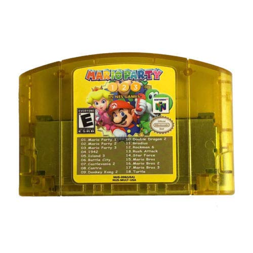 (Nintendo N64 18 in 1 Card Mario Party 1 2 3 Aggregation +15 NES Edition US Card)