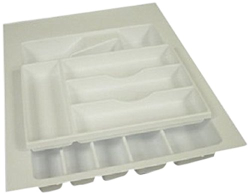 Vance 4W1621FTS 16x21 Trimmable 2-Tier Flatware Drawer Organizer, White Vance Industries