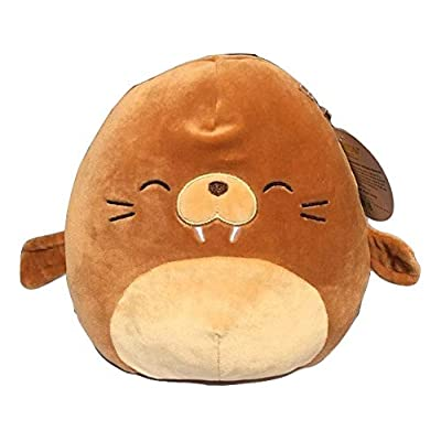 Squishmallow Kellytoy 8 inch Sea Lion Plush Pillow Toy Brown: Kitchen & Dining