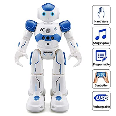 WEECOC Smart Robot Toys Gesture Control Remote Control Robot Kids Toys Birthday Can Singing Dancing Speaking Two Walking Models