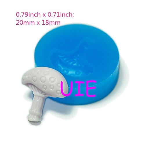 022LBV Mushroom Flexible Silicone Mold Kawaii Miniat Sweets Fondant Gumpaste Mini Resin Mold (Clay Fimo Resin Wax Paste) ()