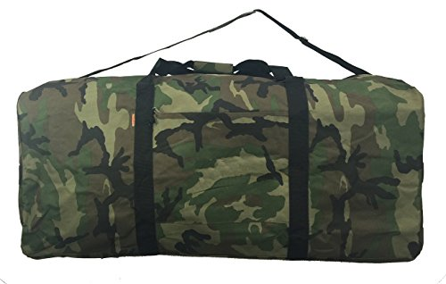 Extra Large Sport Bag - Heavy Duty Cargo Duffel Jumbo Gear Bag Big Drum Set Equipment Hardware Bags Large Square Sport Duffel 42 Inch Oversized Rooftop Travel Bag Huge Rack Roof Ball Traveling Roofbag Camo