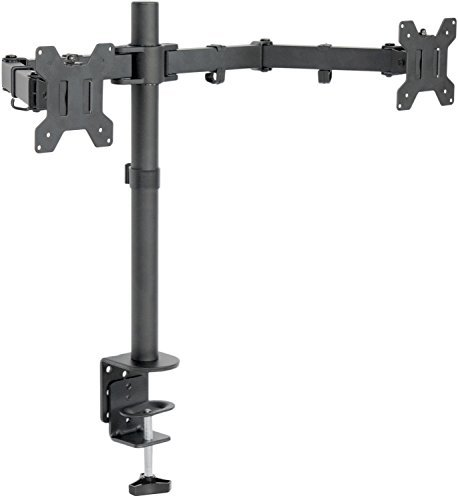 VIVO Dual LCD LED Monitor Desk Mount Stand with C-clamp and