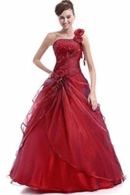 Edaier Women's One Shoulder Long Prom Dresses