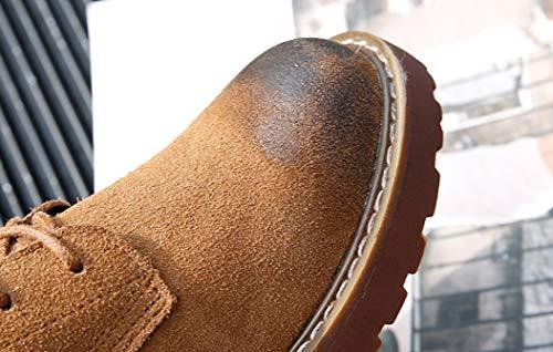 Stiefel Kurze Stiefeletten High Wanderschuhe Dicke Flache mattierte Braun Wasserdichte Top British Stiefel Wind LIANGXIE Frauen Lederstiefel Stiefel Hq0Z0x1