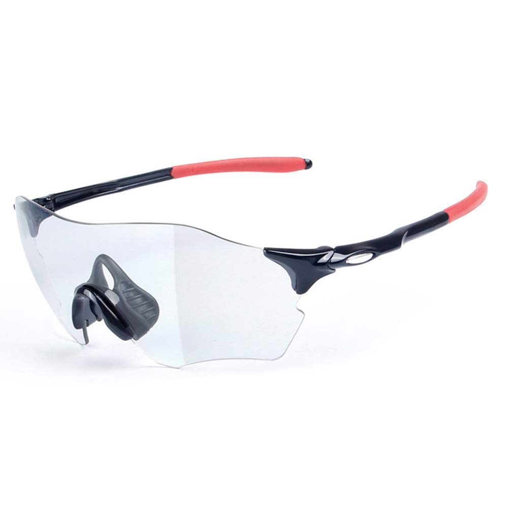 CJB18 Sportsonnenbrillen, farblich wechselnde polarisierte Fahrradreitbrillen, wasserdicht und Nebel + UV400 Schutz, Mehrfarben- Erwachsenenbildung
