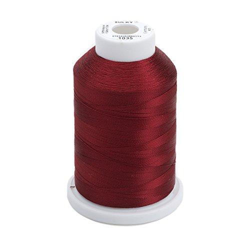Sulky Of America 268d 40wt 2-Ply Rayon Thread, 1500 yd, Dark Burgundy