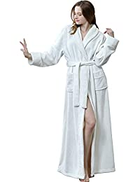 5ef0b2a415 Robe Womens Satin Robes Bridal Wedding Party Loungewear Bride Nightgown  Long Bathrobe Pajamas Sleepwear · 36 · Womens Winter Extra Long Warm  Flannel ...