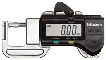 Mitutoyo 700-119-20 LCD Digital Thickness Gage, 0-12mm Range, 0.01mm Resolution