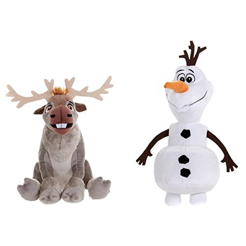 Disney Frozen Sven And Olaf Plush Toy Twin Pack