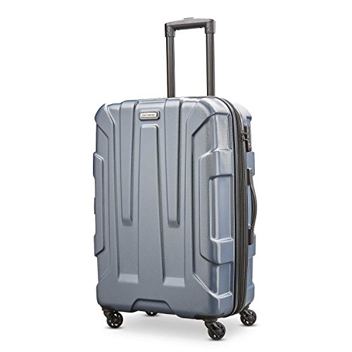 Spinners Samsonite Expandable - Samsonite Centric Expandable Hardside Checked Luggage with Spinner Wheels, 24 Inch, Blue Slate