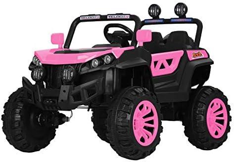 ATAA Buggy Rodeo 4x4 - Rosa - - Coche eléctrico para niños con tracción a Las 4 Ruedas, Mando Remoto, App móvil y Dos Asientos.