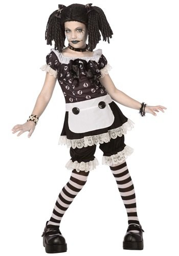 Gothic Rag Doll Child/Tween Costume (Large)