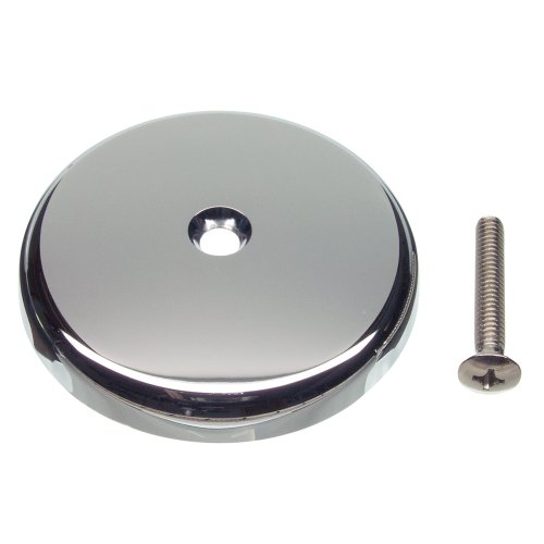 DANCO Single Hole Tub Drain Overflow Plate | One Hole | Screw Included | Chrome (89052) ()