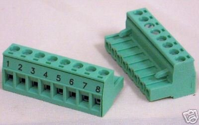 Pluggable Terminal Blocks 8 Pos 5mm pitch Plug 24-12 AWG Screw (1 piece)