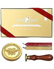 UNIQOOO Arts & Crafts Bee Wax Seal Stamp