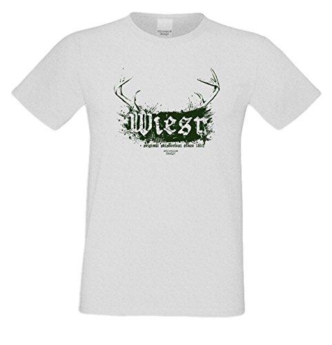 Wiesn T-Shirt - Wiesn Original Oktoberfest Since 1810 grün Shirt Farbe grau - lustiges Funshirt ideal für's Oktoberfest statt Lederhose und Dirndl