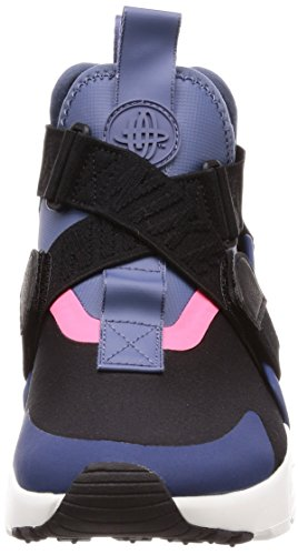 Nike Femmes Wmns Air Huarache Ville, Noir / Bleu Marine-diffus Bleu Noir / Bleu Marine-bleu Diffus