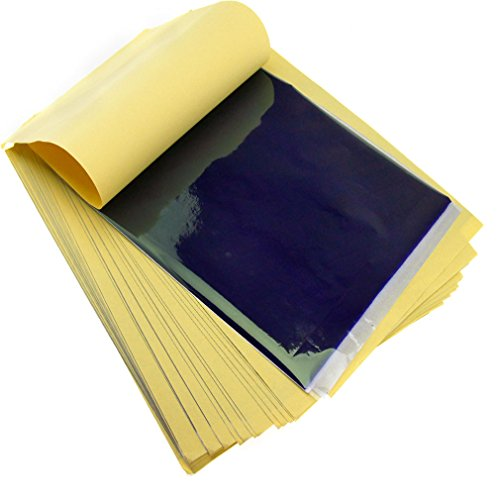 50 x Tattoo Thermal Hectograph Stencil Transfer Copier Paper Sheets Carbon Set ()