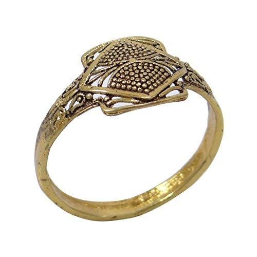 Banithani plaqué or indien Bollywood ethniques bande belle bague de mariage bijoux