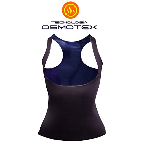 Power Slender for Men Sweat Shaping Vest - Osmotex Osmotic Technology Waterproof, Lightweight, and Comfort - Original Fat Burner and Reducing Shirt (Small) Black, Purple