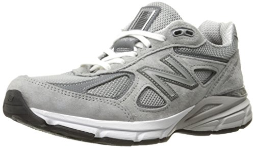 New Balance Women's W990V4 Running Shoe, Grey/Castlerock, 9 B US