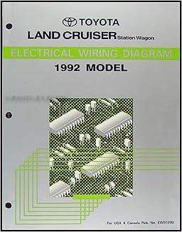 1992 Toyota Land Cruiser Wiring Diagram Manual Original Toyota Amazon Com Books