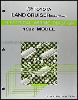 1992 toyota land cruiser wiring diagram manual original amazon com rh amazon com Toyota Distributor Wiring Diagram Toyota Ignition Wiring Diagram