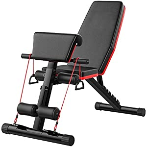 GY613 Dumbbell benchs,Adjustable Weight Bench, Utility Weight Bench for Full Body Workout Multi-Purpose Foldable Incline, Sit Up Incline Abs Benchs Flat Fly, Weight Press Fitness