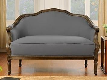 2 Sitzer Sofa Stoff Barock Isolde Grau Amazon De Kuche Haushalt