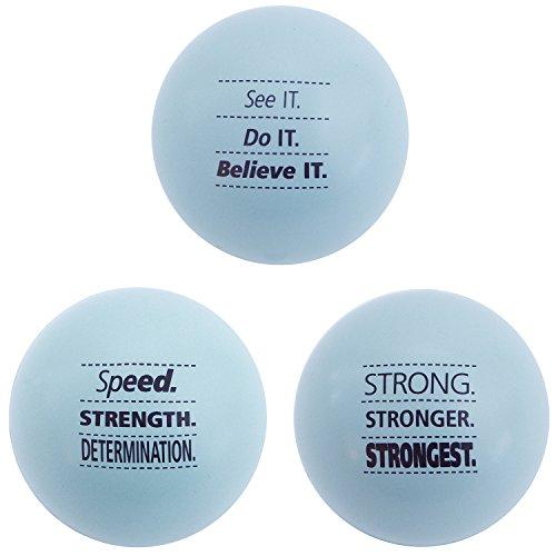 Teacher Peach Motivational Stress Balls, 3 Pack, Stress Relief Toys - Light Blue (10 Colors Available)