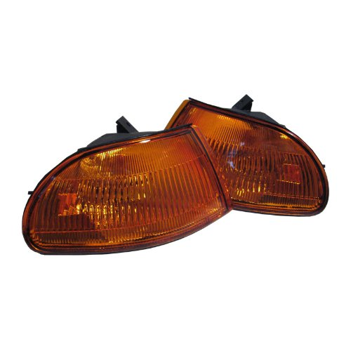92-95 Honda Civic 2/3 Door Amber/Clear Corner Lights - 1 Pair (Both Driver and Passenger Sides) (1992 1993 1994 1995 93 94) ()