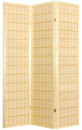 Oriental Furniture 6 ft. Tall Kimura Shoji Screen - 5 Panel - Natural