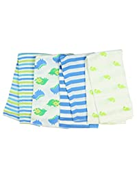 Gerber Boy Print Prefold Diaper Burp Cloths - Dinosaurs and Stripes (4 Count) BOBEBE Online Baby Store From New York to Miami and Los Angeles