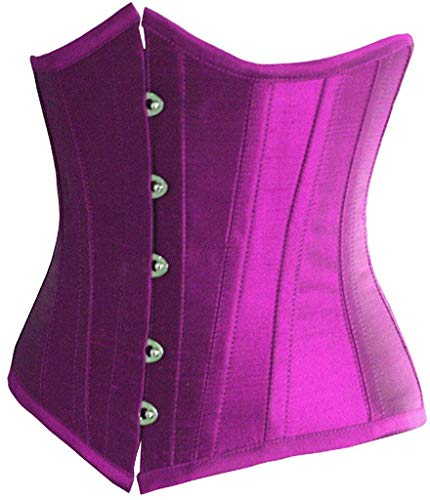 Doma Leather - Fashion Womens Sexy Satin Vintage Underbust Waist Training Corset (Purple,S/Bust:29-31inch Waist:23-25inch)