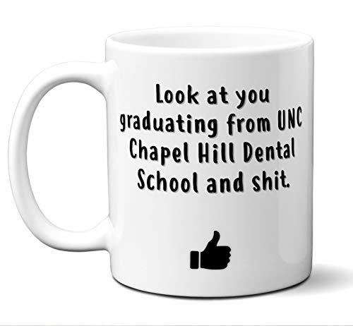 Dental School Graduation Gift Coffee Mug Tea Cup. University North Carolina (UNC) Chapel Hill Dentistry. Student Grad Idea DMD DDS Graduates Women Men Class of 2019. Funny Academic Degree Congrats