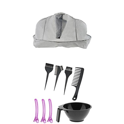 Dovewill Salon Hair Coloring Dyeing Tool Bowl Brush Cape Clips Set For Hairdressing by Dovewill