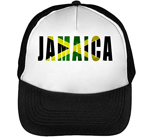 Negro Hombre Green Snapback Blanco Flag Beisbol Gorras Coloured Fashioned Black Yellow Jamaica Evq0Fx