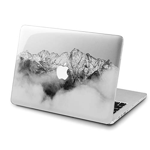 Lex Altern MacBook Air Foggy Mountains Case 13 inch 2017 Model Pro A1989 15 Black&White 2018 Mac Clear Retina 12 Gloomy Graphic Cover Hard Shell Laptop 11 Apple 2016 2015 -