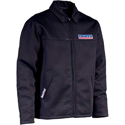 Throttle Threads Parts Unlimited Shop Jacket , Size: 3XL, Size Modifier: 54-55in, Distinct Name: Black, Gender: Mens/Unisex, Primary Color: Black PSU19J28BK3R