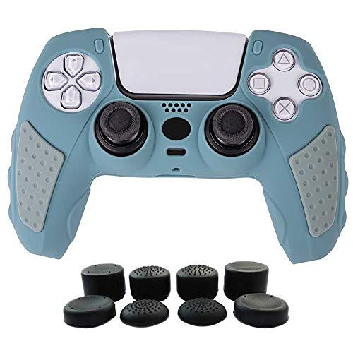 funda + 8 grips para control playstation 5 grey