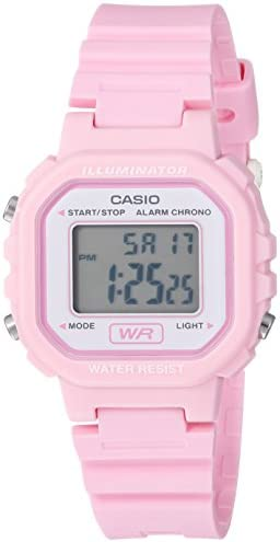 Casio Women's 'Classic' Quartz Resin Casual Watch, Color:Pink (Model: LA-20WH-4A1CF)