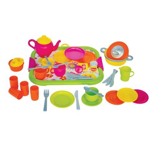 Gowi 454-47 Speiseservice Venedig, Küchenspielzeug, 40 teilig